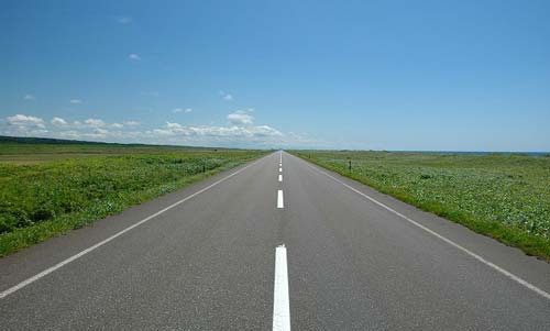 北海道まっすぐの道