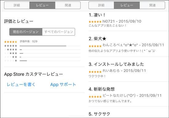 ライクユー口コミ(Appstore)