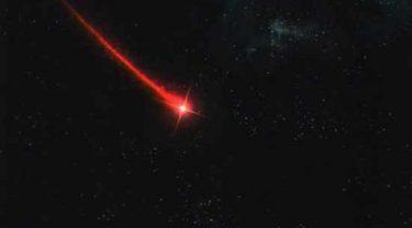 まるで赤い彗星。女子って大変!